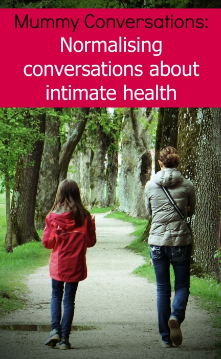 A mother and daughter walking together: Mummy Conversations - Normalising conversations about intimate health