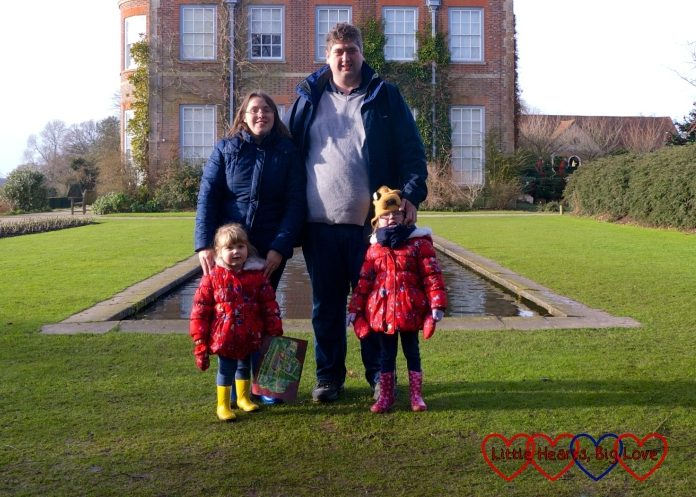 Me, hubby, Jessica and Sophie at Hinton Ampner