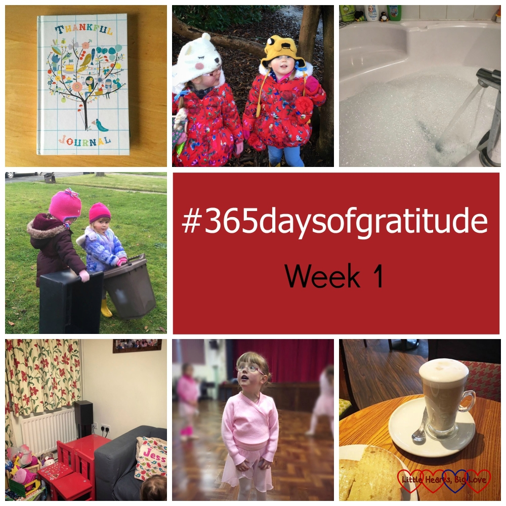 """Thankful journal, """"treasure hunts"""", bubble baths, bin men, de-Christmasing, being back in a routine and some time to myself - the things I'm thankful for this week"""