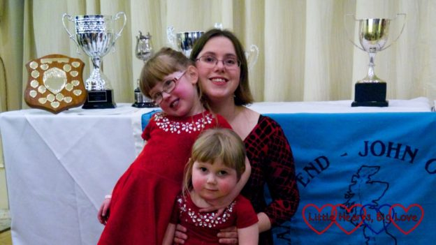 Me with Jessica and Sophie at the LEJOG Association awards