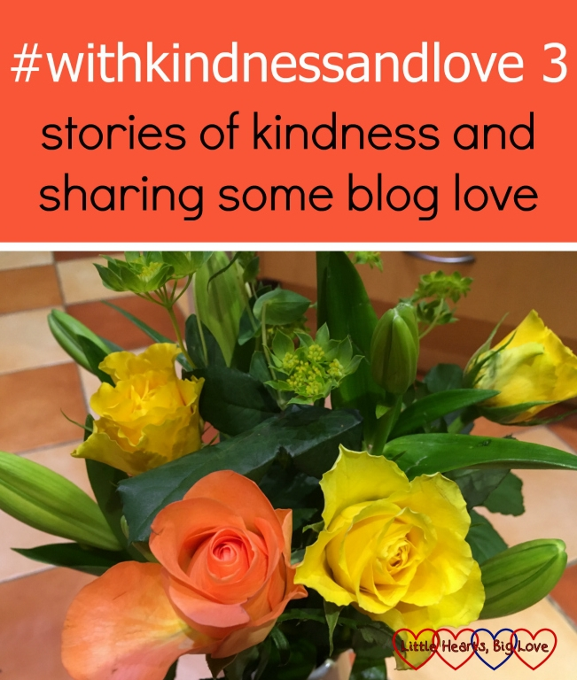 A bouquet of orange and yellow roses: #withkindnessandlove 3 - stories of kindness and sharing some blog love