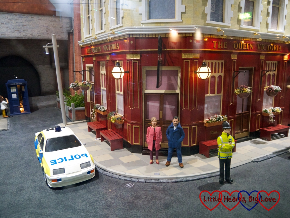 The Queen Vic in the Little Enders scene at Babbacombe Model Village