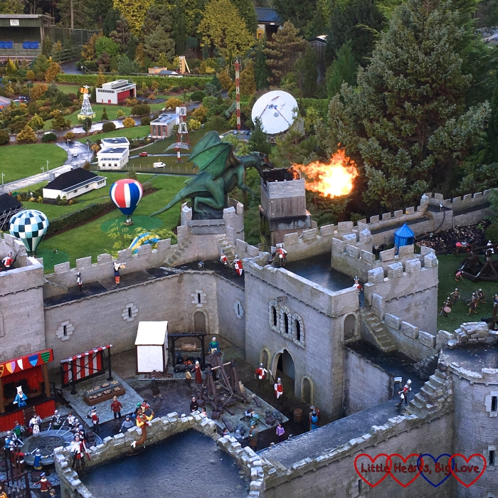 The castle and fire-breathing dragon at Babbacombe Model Village