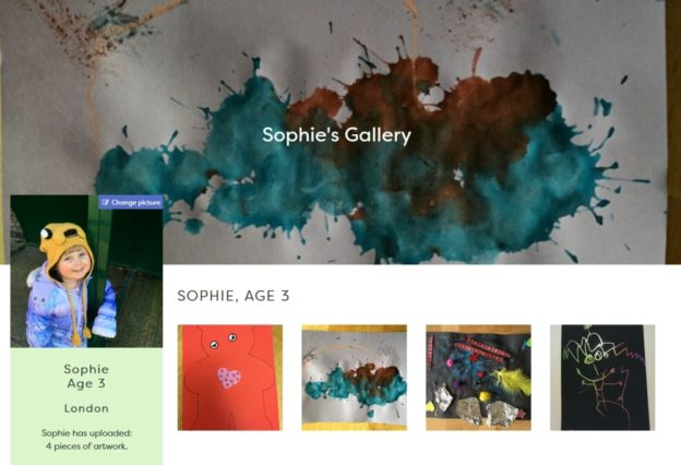 Sophie's gallery on the Children's Art Galleries site
