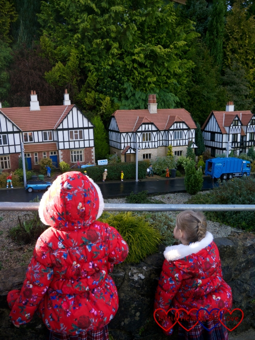 Jessica and Sophie looking at the models at Babbacombe Model Village