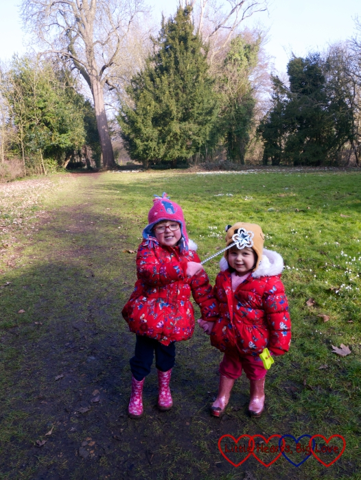 Jessica and Sophie enjoying the sunshine at Ankerwyke