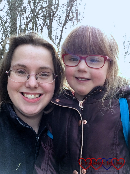 A selfie of me and Jessica on her Girls' Brigade outing