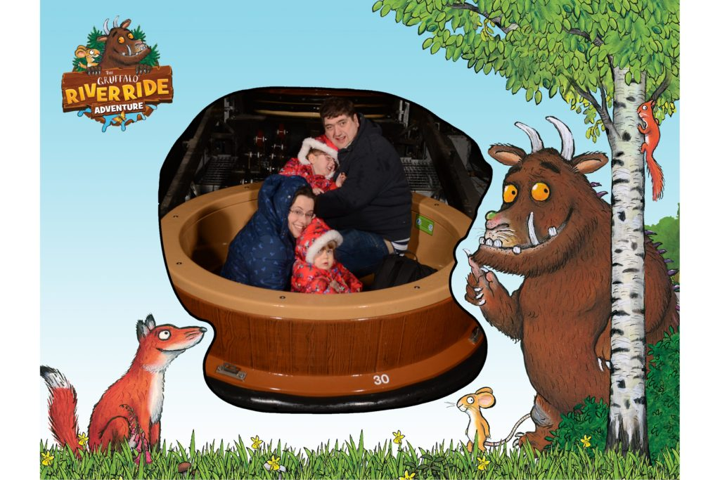 Me, hubby, Jessica and Sophie in the boat on the Gruffalo River Ride Adventure