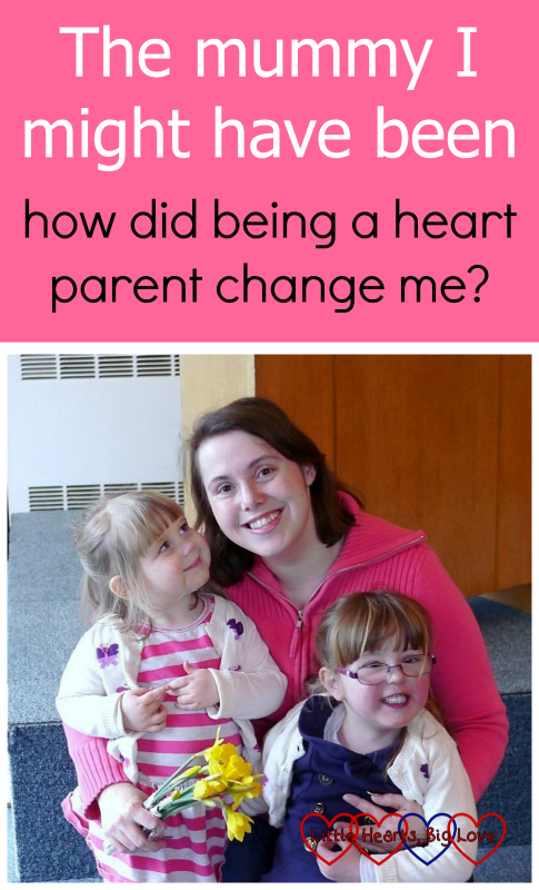 "Me with Jessica and Sophie. ""The mummy I might have been - how did being a heart parent change me?"""