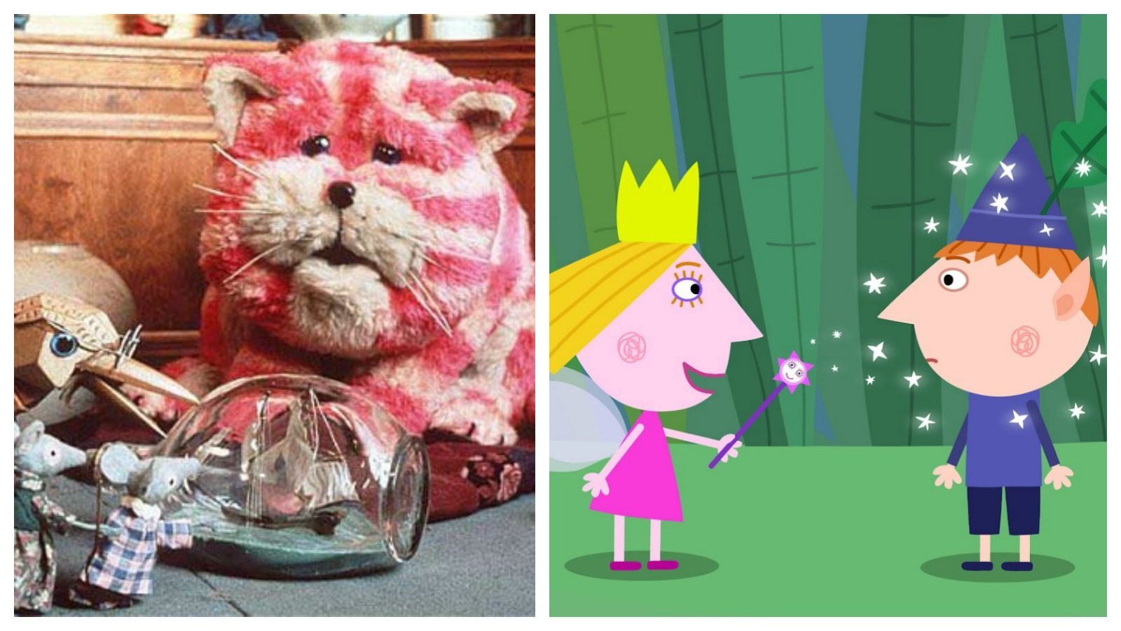 Bagpuss and Ben and Holly