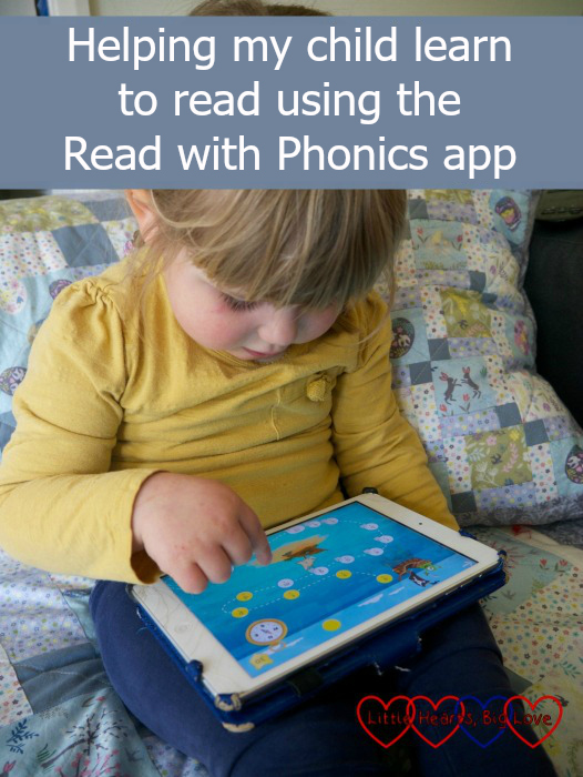 "Sophie using the Read with Phonics app - ""Helping my child learn to read using the Read with Phonics app"""