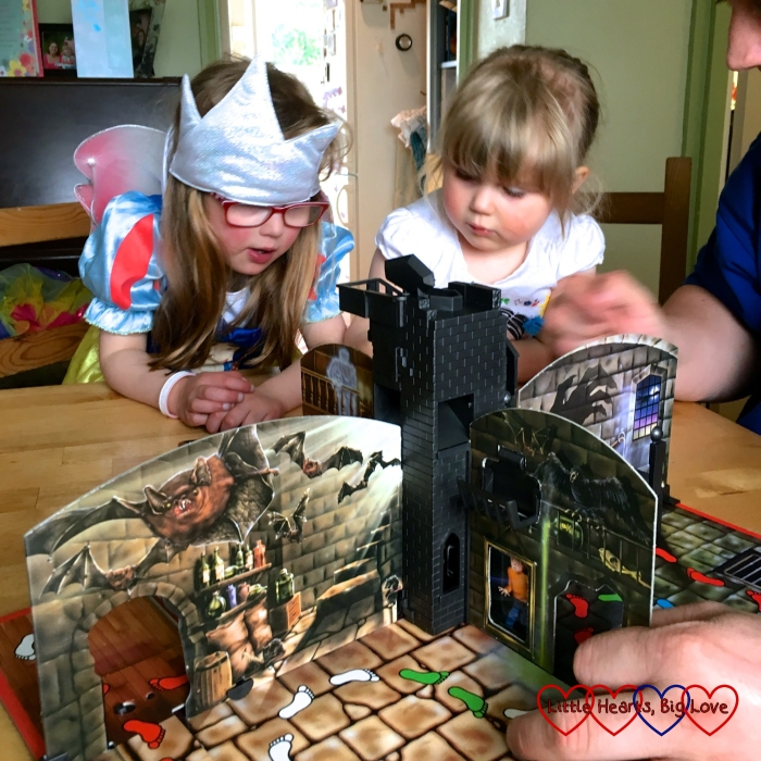 Jessica and Sophie playing Ghost Castle