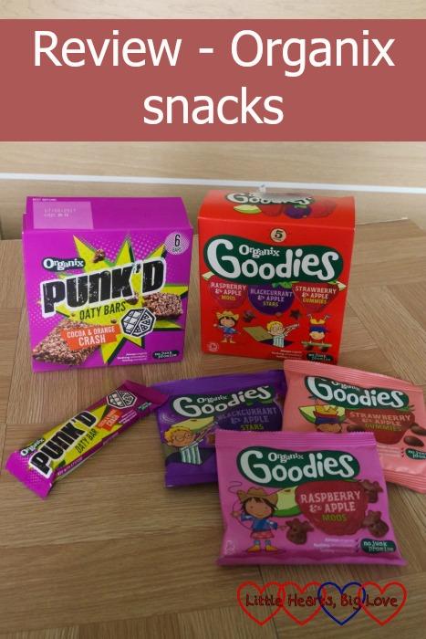 "Organix Punk'D cereal bars and Organix Goodies fruit gummies - ""Review - Organix snacks"""