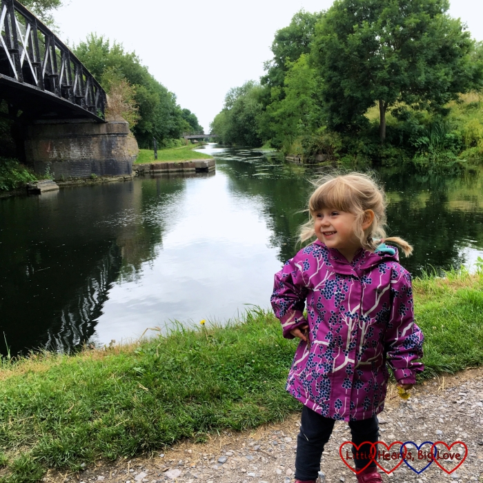 Sophie standing next to the canal