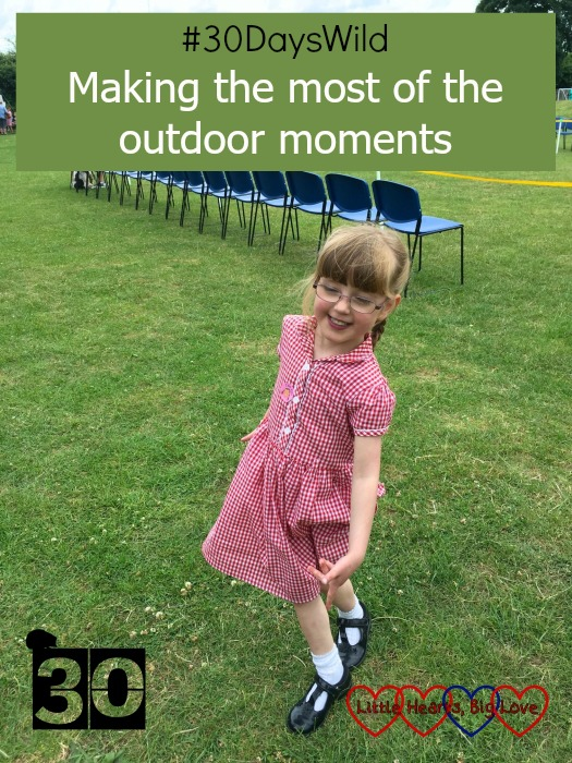 "Jessica at the summer fayre - ""#30DaysWild - Making the most of the outdoor moments"""