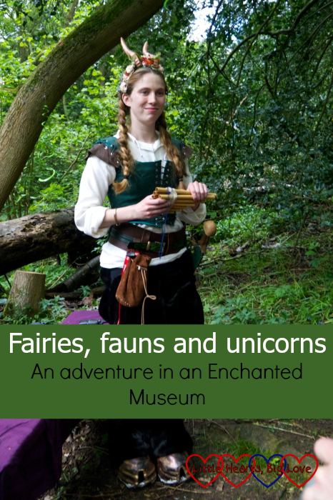 """A faun in the Enchanted Forest at Chiltern Open Air Museum - """"Fairies, fauns and unicorns - an adventure in an Enchanted Museum"""""""