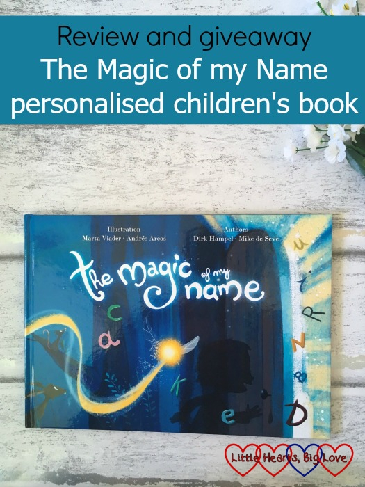 "The front cover of The Magic of my Name - ""Review and giveaway - The Magic of my Name personalised children's book"""