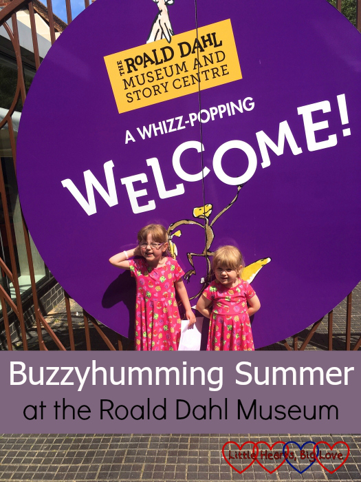 "Jessica and Sophie outside the Roald Dahl Museum - ""Buzzyhumming Summer at the Roald Dahl Museum"""