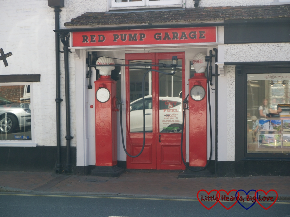 The Red Pump garage which was the inspiration for the filling station in Danny, the Champion of the World