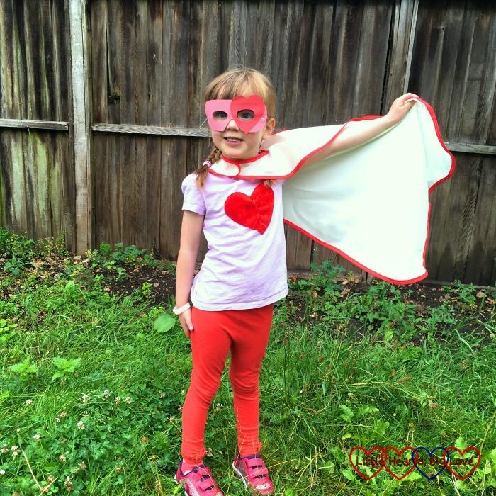 "Jessica in her ""Super Jessica"" superhero costume"