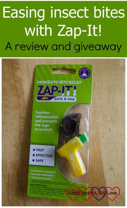 """A Zap-It! device - """"Easing insect bites with Zap-It! A review and giveaway"""""""