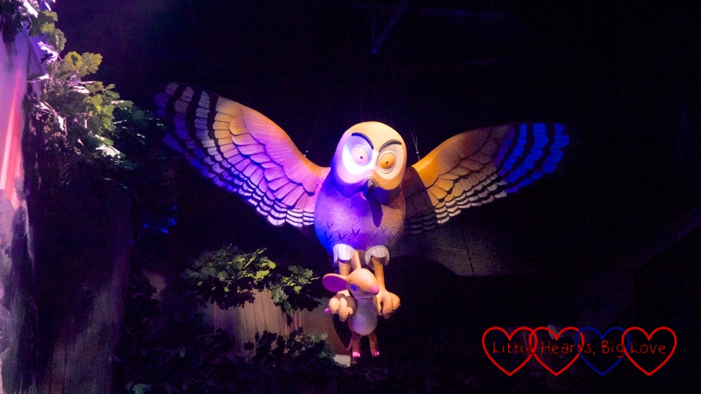 Owl and Mouse from the Gruffalo River Ride Adventure