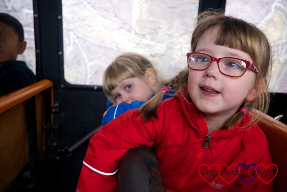 Jessica and Sophie on the Jungle Bus ride