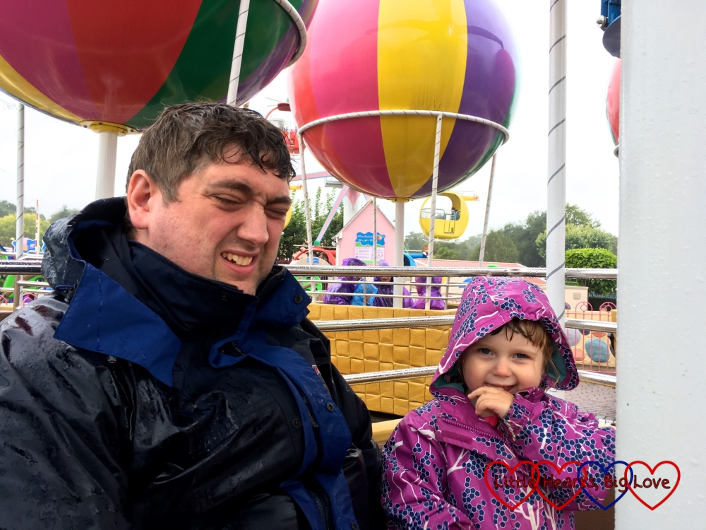 Sophie and Daddy on Peppa's Big Balloon Ride
