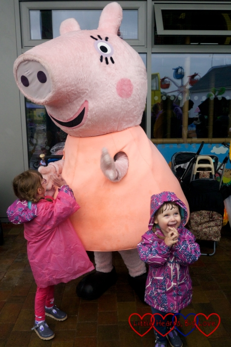 Jessica and Sophie with Mummy Pig