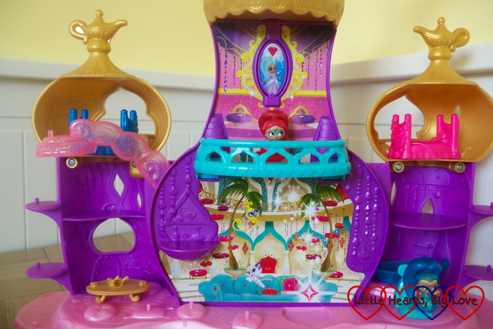Shimmer on the balcony of the Floating Genie Palace playset
