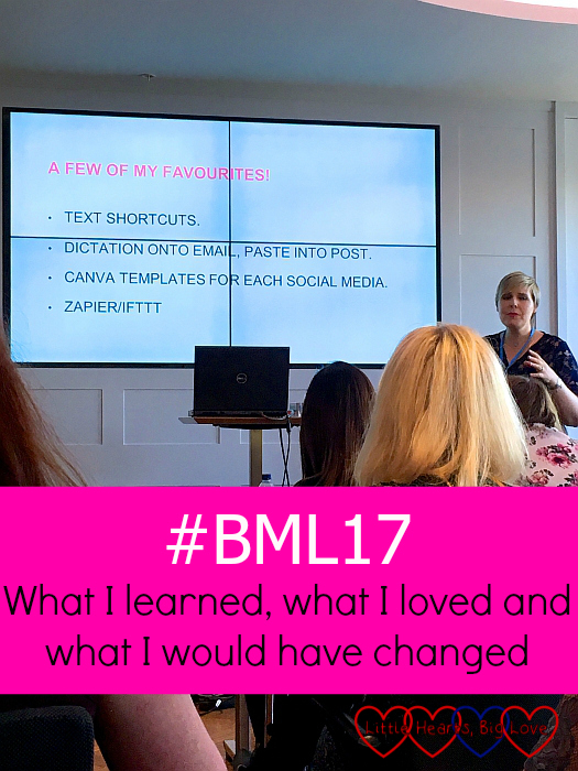 """Aby Moore's session at #BML17 - """"#BML17 - what I learned, what I loved and what I would have changed"""""""