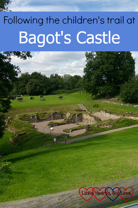 "The ruins of Bagot's Castle in Warwickshire - ""Following the children's trail at Bagot's Castle"""