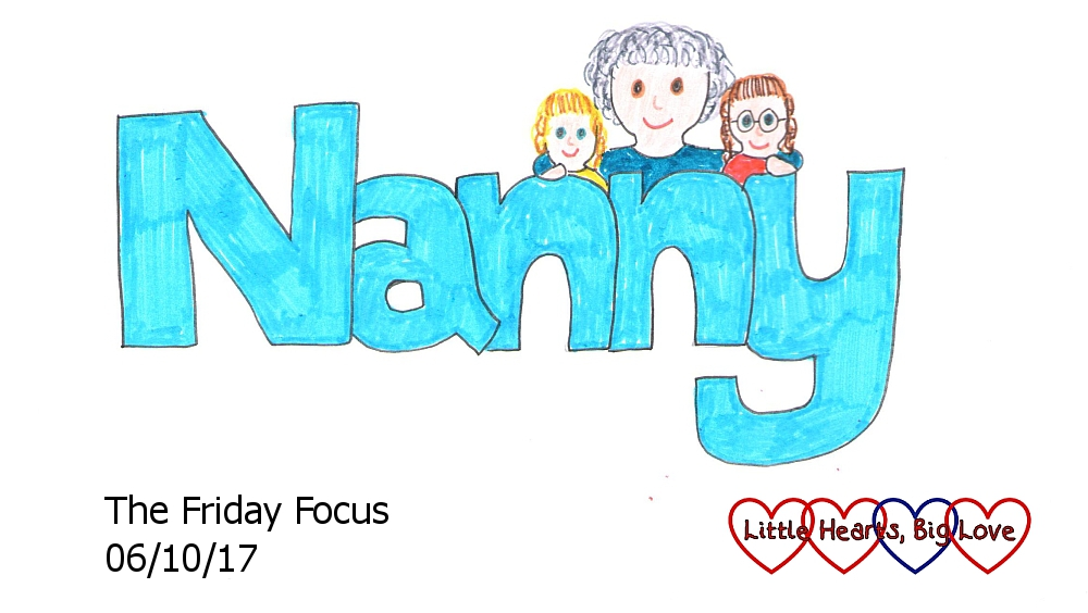 """Nanny"" - this week's word of the week, with a little sketch of my mum with my girls"