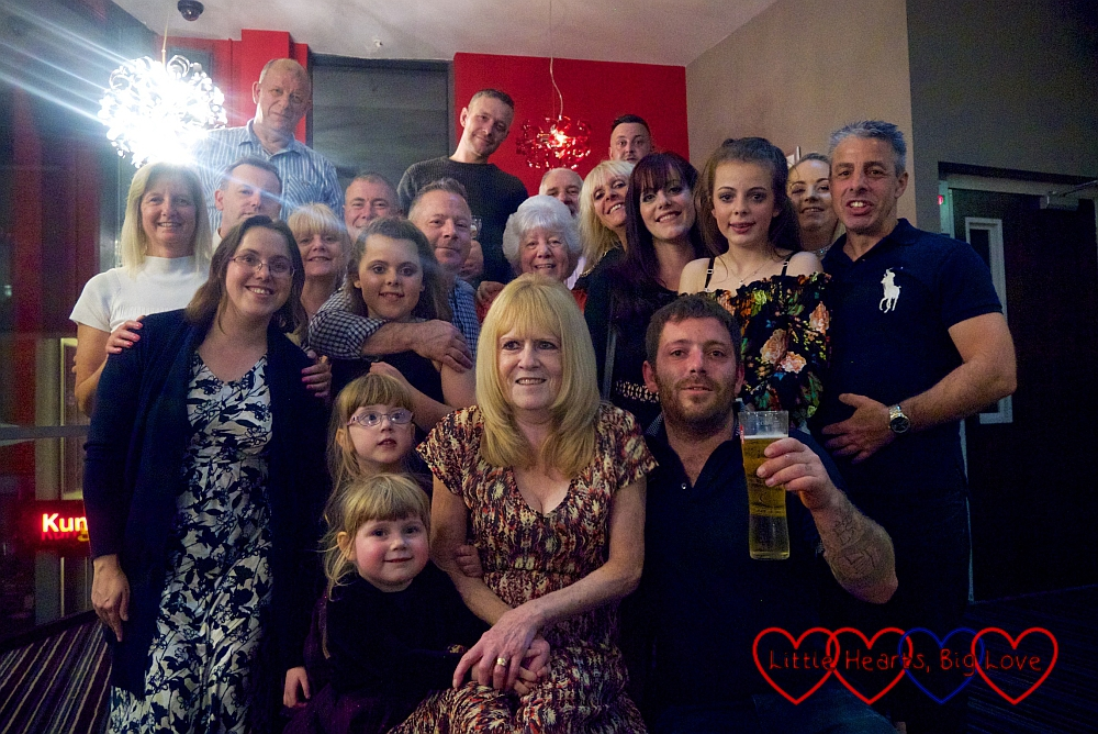 Me with my family at my sister's 60th birthday