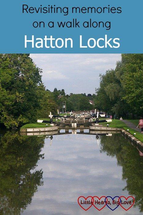 "Looking down at some of the locks on the Hatton flight - ""Revisiting memories on a walk along Hatton Locks"""
