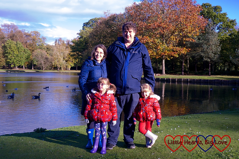 Me, hubby, Jessica and Sophie at Claremont Landscape Garden