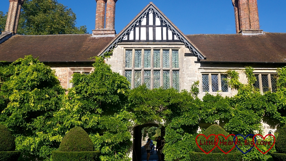 Baddesley Clinton from the courtyard of the house