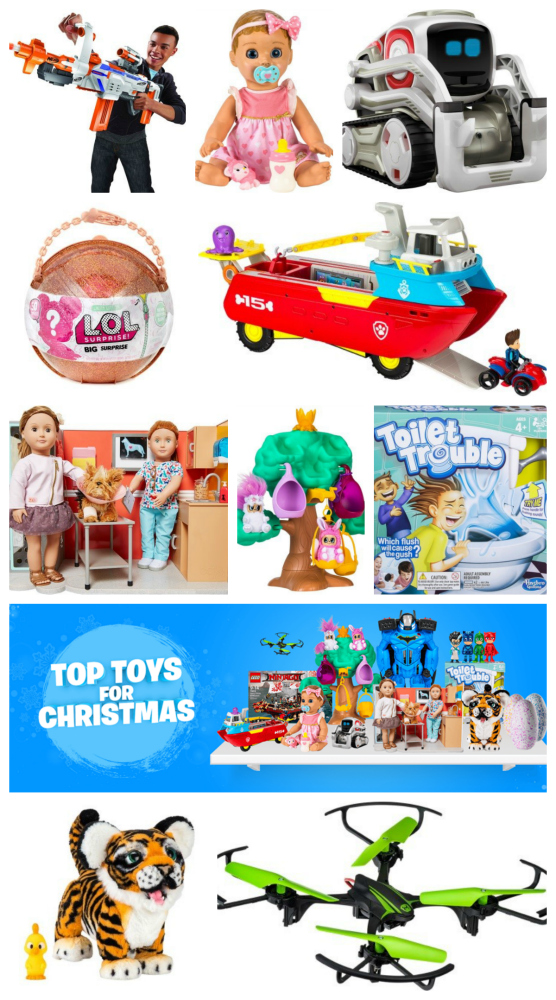A collage of images showing some of the top toys for Christmas from Smyths Toys