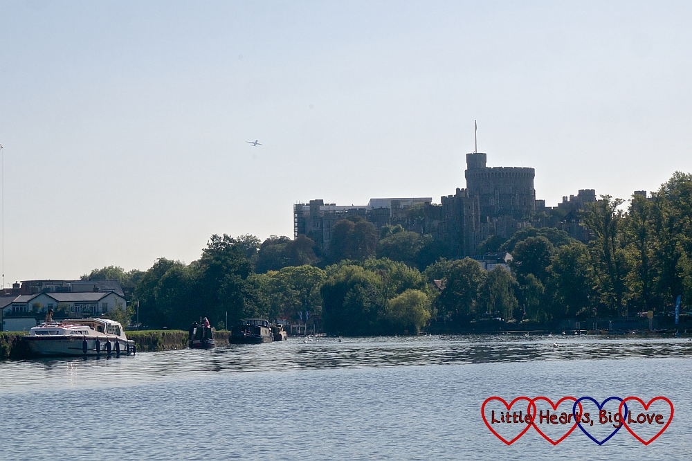 Windsor Castle seen from the river