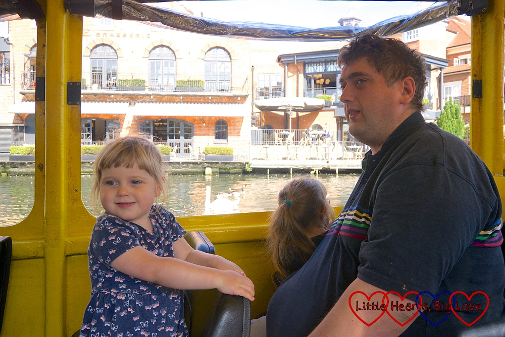Hubby, Sophie and Jessica on the Duck Tour