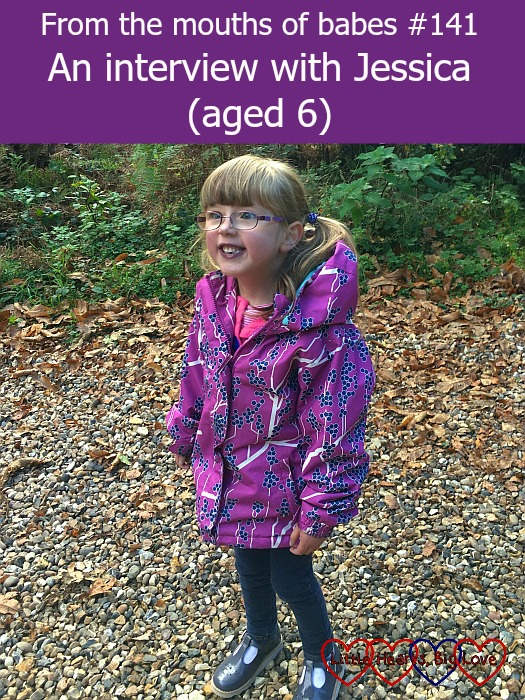 """A very smiley Jessica out on a walk in Black Park - """"From the mouths of babes #141 - An interview with Jessica (aged 6)"""""""