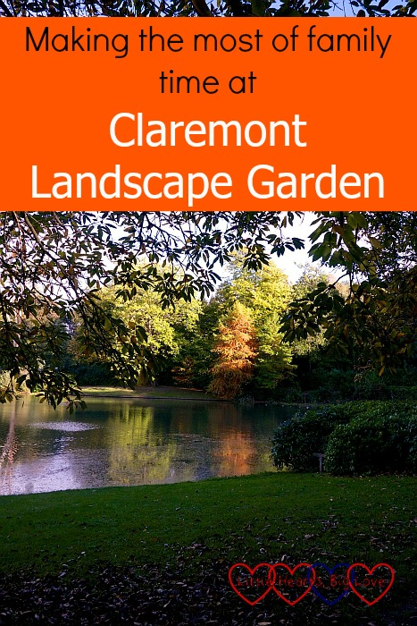 "The view over the lake at Claremont Landscape Garden - ""Making the most of family time at Claremont Landscape Garden"""