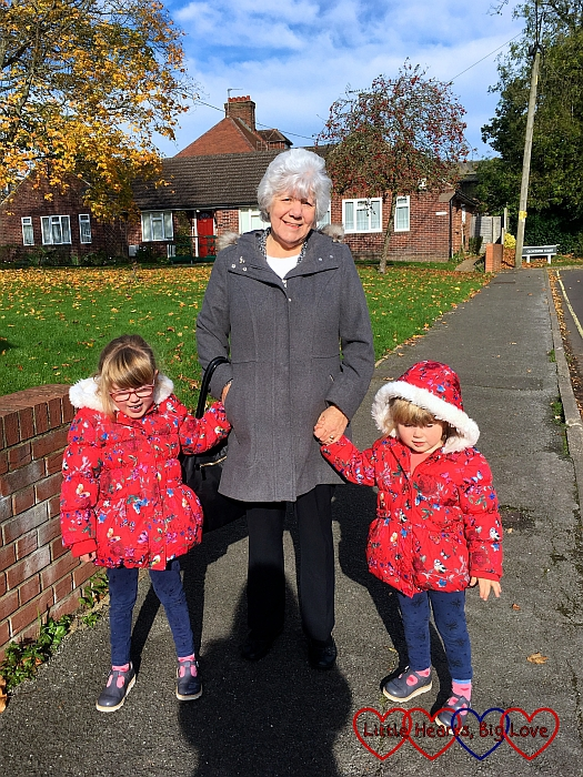 Jessica and Sophie with Nanny