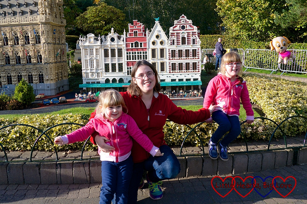 Me, Jessica and Sophie in Miniland at Legoland
