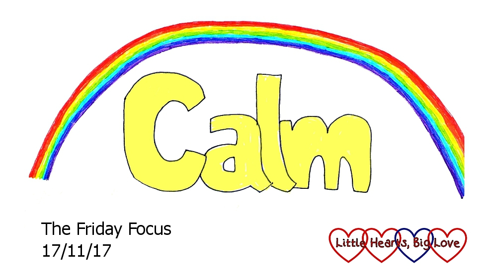 "The word ""calm"" with a rainbow over the top - this week's word of the week"
