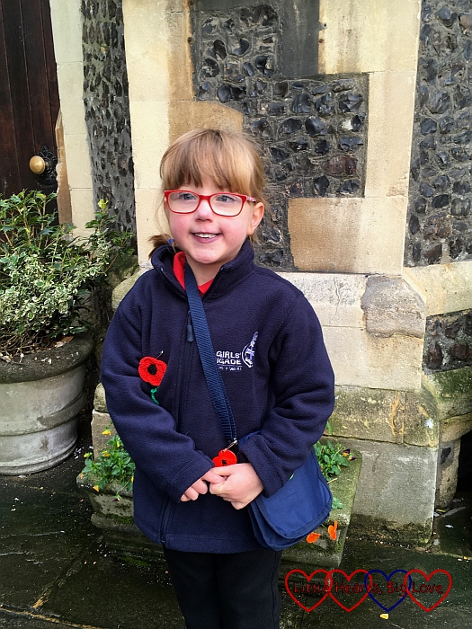 Jessica in her Girls' Brigade uniform ready for the Remembrance Sunday parade