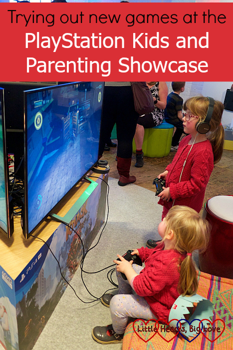 "Jessica and Sophie playing Knack 2 on the PS4 - ""Trying out new games at the PlayStation Kids and Parenting Showcase"""