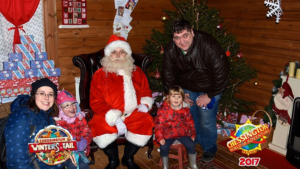 Me, hubby, Jessica and Sophie with Father Christmas at Chessington World of Adventures