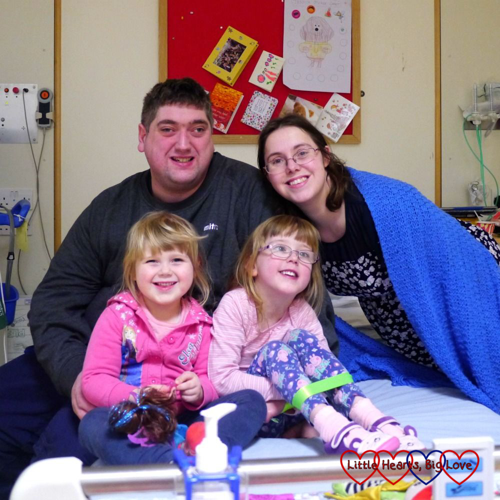 Me, hubby, Jessica and Sophie on the children's cardiac ward