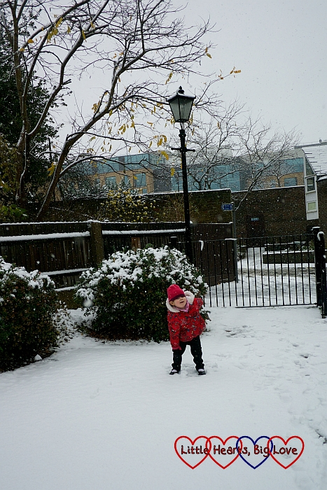 Sophie standing in the car park with a Narnia-esque lantern behind her
